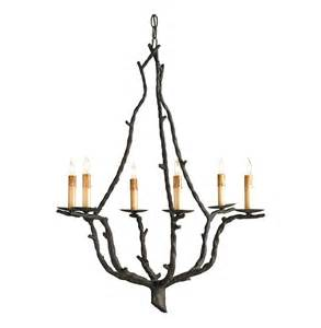 Rustic Chandeliers Wrought Iron Serendipity Rustic Wrought Iron Branch 6 Light Chandelier