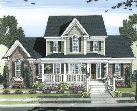 southern traditional house plans traditionally styled country custom home with 2 353 square