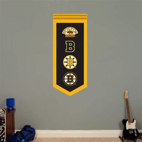 boston bruins home decor boston bruins logo evolution banner wall decal shop