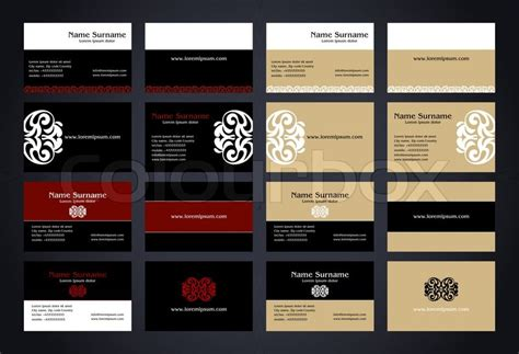 weiss schwarz card template kreative visitenkarten design mit logo vintage stil