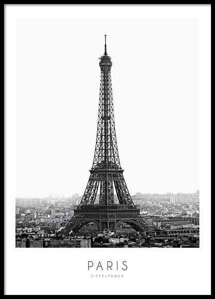 Eiffel Tower Poster black and white poster with eiffle tower print
