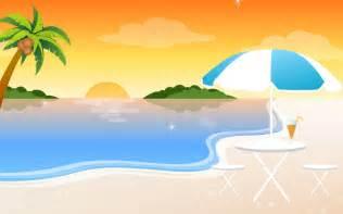Cartoon beach beach sunset cartoon