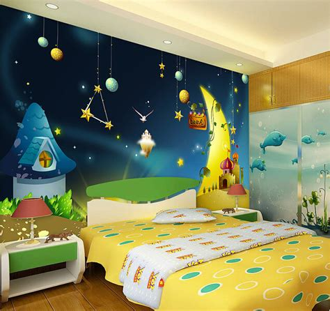 Bedroom Wall Stencils aliexpress com comprar encargo papel de parede infantil