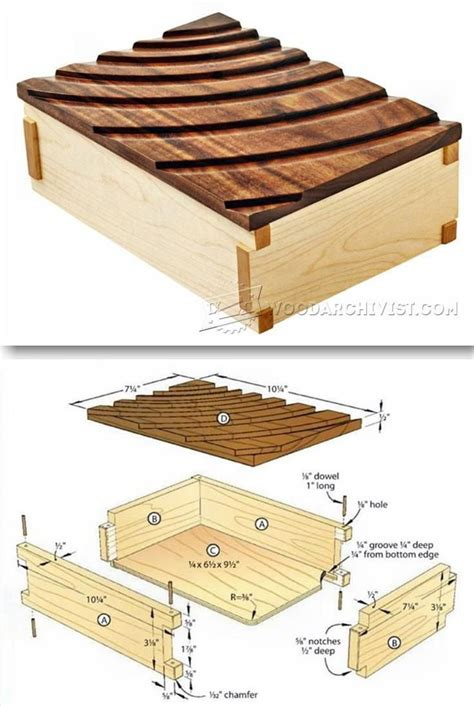 keepsake box plans woodworking plans  projects woodarchivistcom wood wood projects