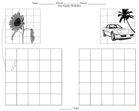 printable art activities for middle school 11 best images of worksheets grid art activity grid