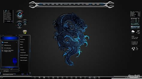 themes for windows 7 dragon bluedragon theme for windows7 by allthemes on deviantart