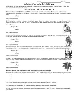 section 12 4 mutations answers 100 biology 13 3 mutations worksheet answers