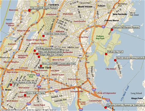 Map Of New York Bronx by Zoo Bronx New York Map