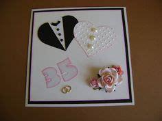 Paket Gift Anniversary handmade card wedding anniversary 35th coral