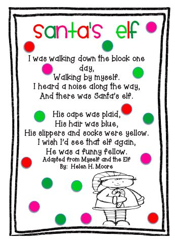 christmss preschool poems poems for kindergarten happy holidays