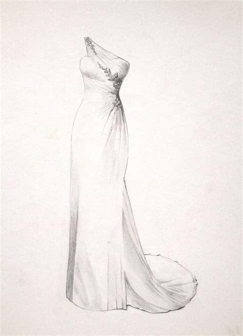 Brautkleider Zeichnungen by The Dress Drawing For A Wedding Or By
