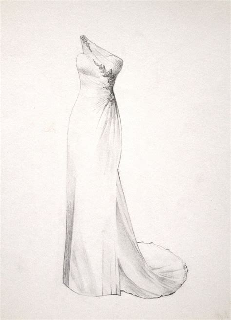 The Perfect Dress Drawing for a Bride.. Wedding or by