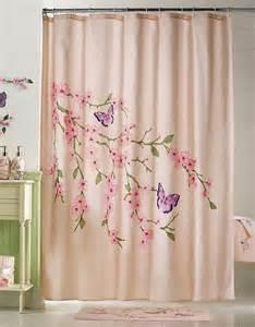 Cherry Blossom Curtains Cherry Blossom Shower Curtain Bathroom Decor