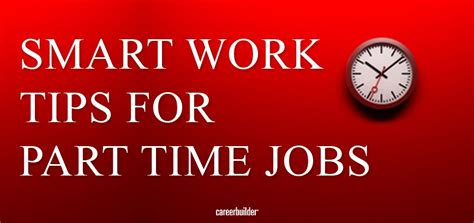 smart work tips for part time