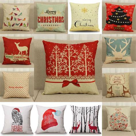 festive home decor linen cushion cover throw pillow home