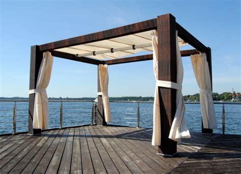pavillon polyrattan polyrattan pavillon luxus gartenm 214 bel 4m x 3m ebay
