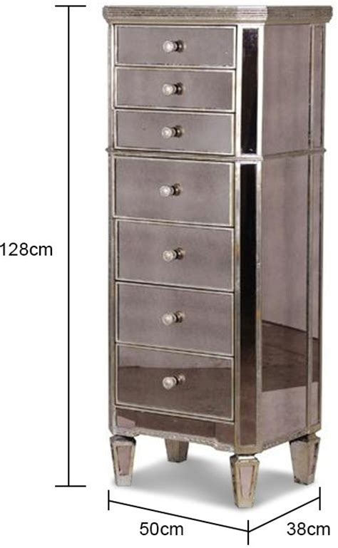 Mirrored Bedroom Chest Of Drawers by Slim Venetian Tallboy Chest Of Drawers Mirrored Finish