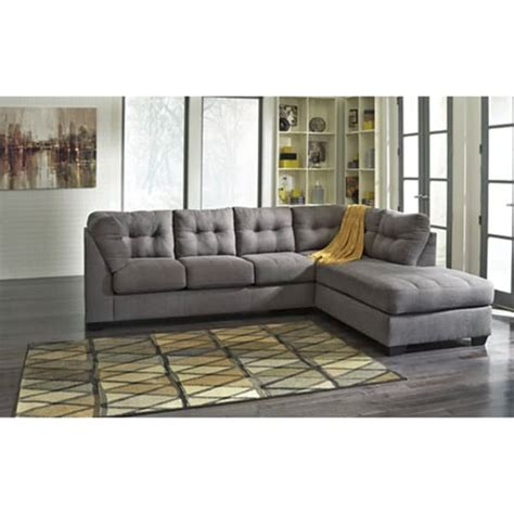 shop maier charcoal corner chaise  sofa sectional