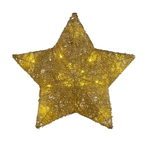 printable golden star home accents holiday 12 5 in battery operated star gold