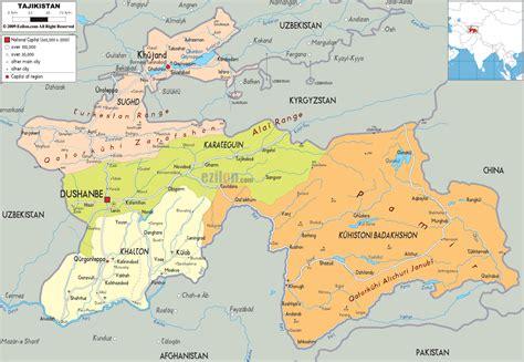 map of tajikistan tajikistan tadjikistan tadzhik s s r tadzhikistan