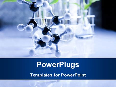 Free Chemistry Powerpoint Templates | powerpoint template a long black nd white molecule on a