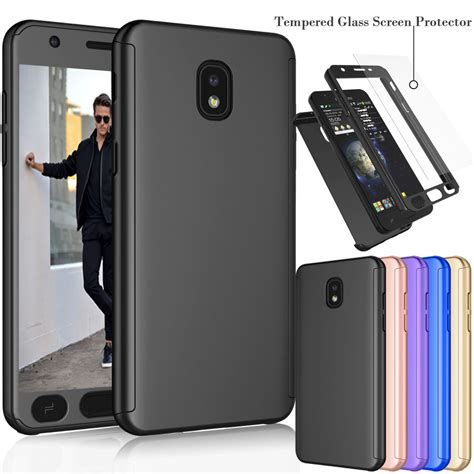 for samsung galaxy j7 refine j7 2018 protective cover tempered glass ebay