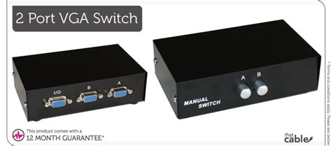 Vga Switch 2 Input 1 Output object moved