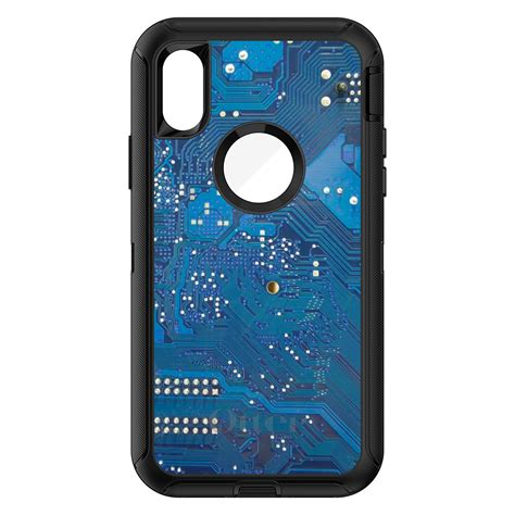 otterbox defender for iphone 7 8 plus x xs max xr blue circuit board ebay