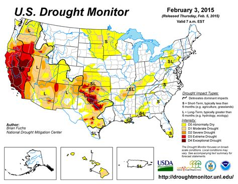 us weather drought map national drought mitigation center website gt news