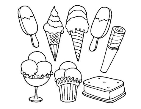 ice cream sundae coloring page bulk color