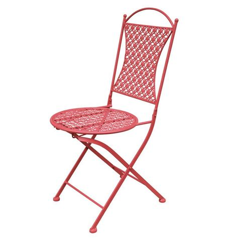 stamped fold chair coral  images outdoor