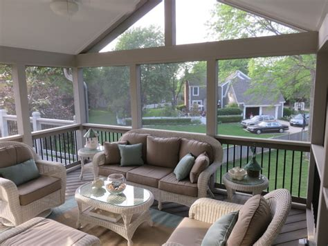 Small Lanai Design Ideas second story kansas city screened porch with gable roof