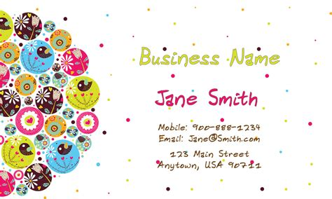 Daycare Business Cards Templates by Childcare Business Card Design 1101131