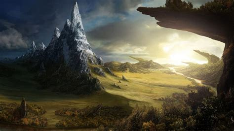 scenic fantasy wallpaperart collection part  imgur fantasy landscape fantasy art