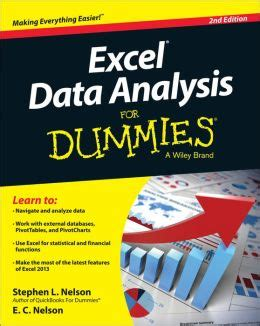 Mba For Dummies Epub by Excel Data Analysis For Dummies