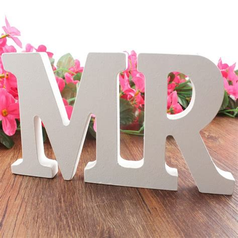 mr mrs table letters mr mrs wooden letters sign top table decoration wedding
