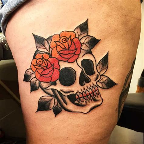 skull with roses tattoo meaning 31 supreme skull tattoos gun