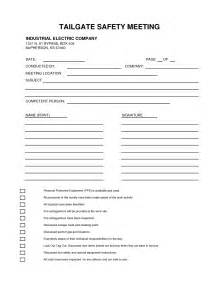 tailgate safety meeting form best template amp design images