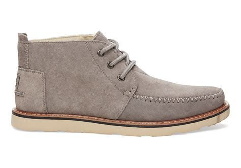 suede chukka boots toms suede s chukka boots in gray for lyst