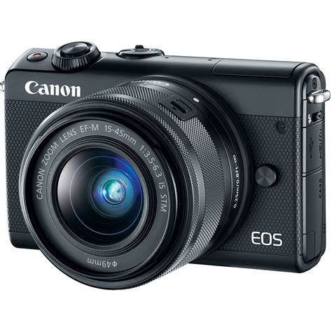 Canon Eos M100 Mirrorless Kit 15 45mm Is Stm canon eos m100 mirrorless digital with 15 45mm 2209c011