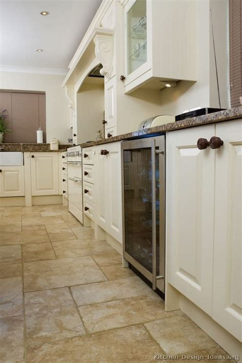 White Kitchen Cabinets Tile Floor | white kitchen tile floor ideas pictures of kitchens