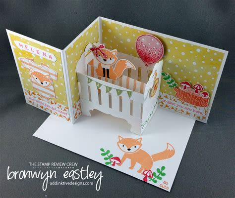 crib card template baby crib z fold card tutorial addinktive designs