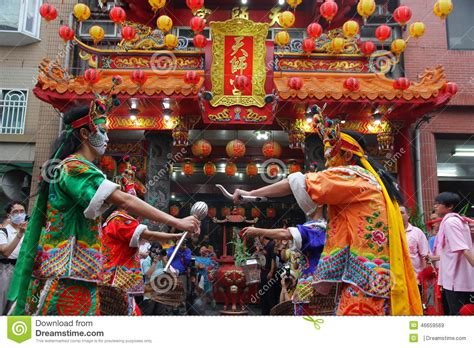 new year traditions customs taiwan taiwan performing the eight generals editorial stock