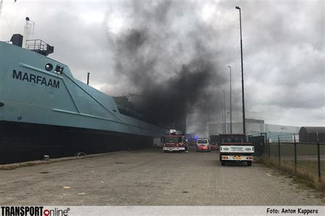 schip in brand transport online transportnieuws transport online