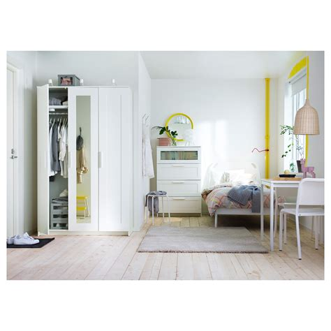 Brimnes Armoire by Brimnes Wardrobe With 3 Doors White 117x190 Cm