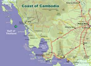 map of coast coast of cambodia map