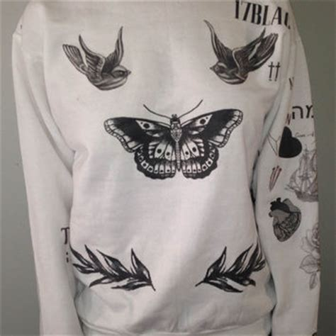harry styles tattoos sweater harry styles sweater from boybandtattoos on etsy epic