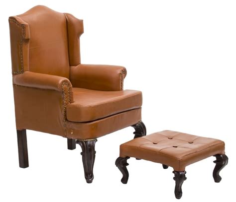wingback chair ottoman 2 leather wingback chair matching ottoman february