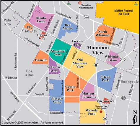 where is mountain view california on the map image gallery mountain view california map