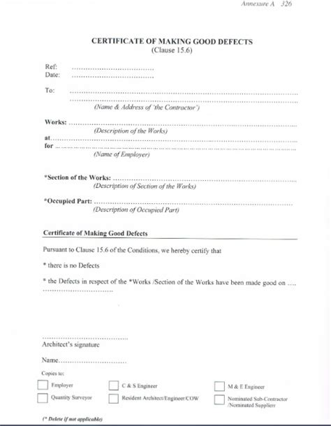 practical completion certificate template uk practical completion certificate template best free
